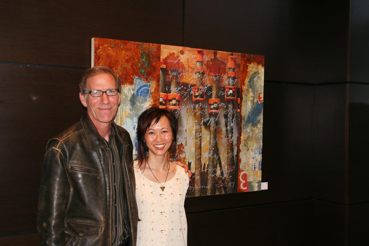 Vanessa with Arnt Arntzen at opening