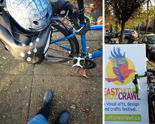 Biking in Eastside Culture Crawl