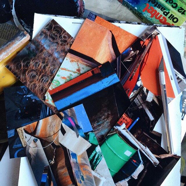 Preparing photos for collage