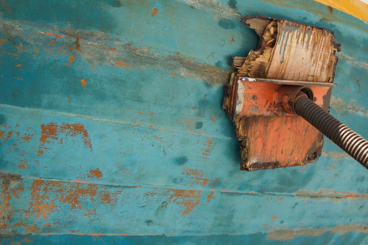 Turquoise Boat Siding