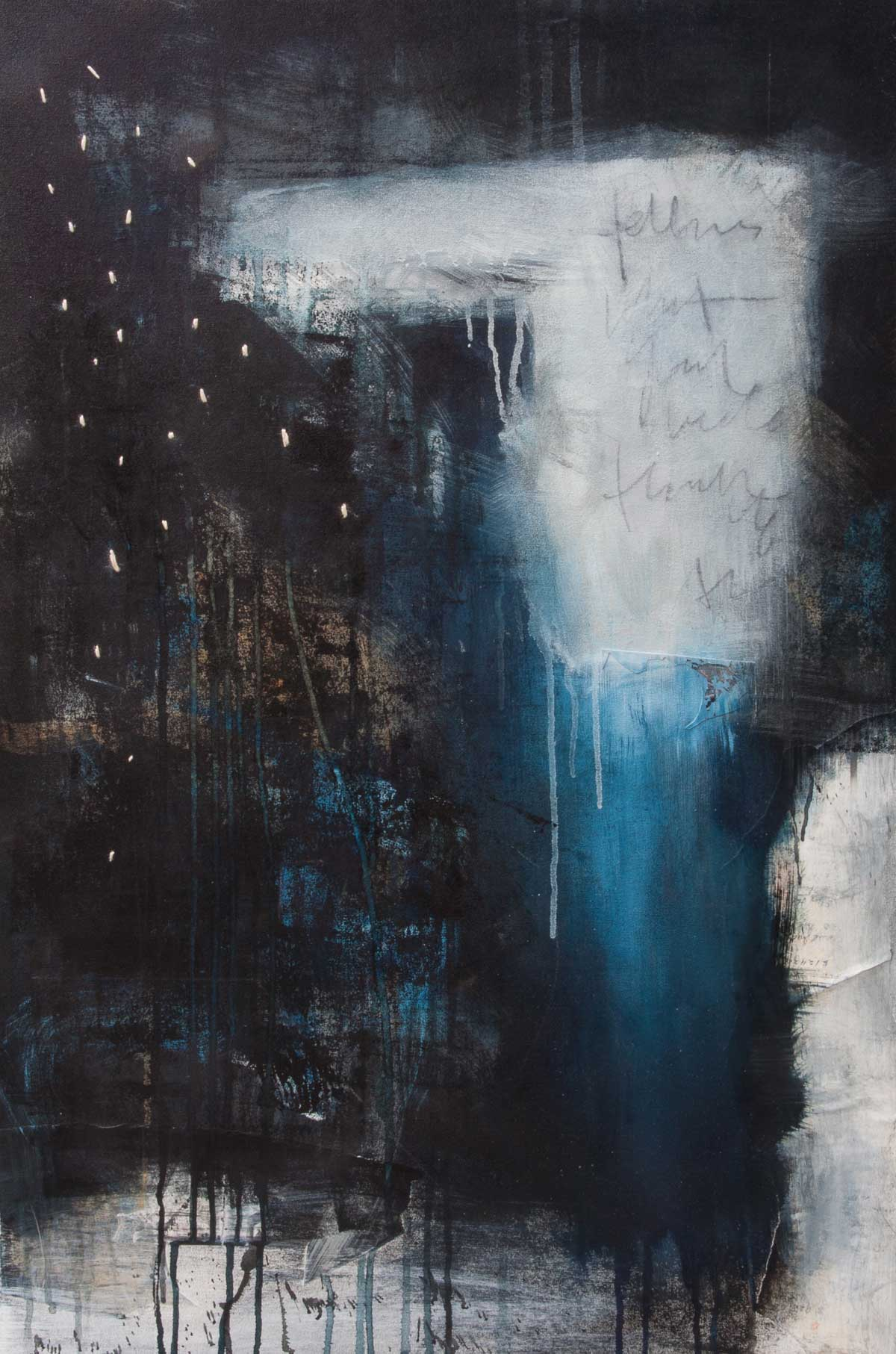 "Hinterland, 2015, mixed media on canvas, 24"" x 36"""