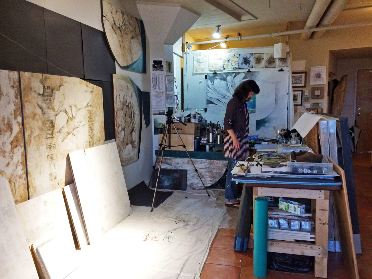 studio overview of Siobhan Humston's studio